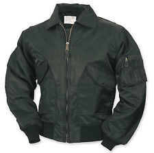 MA2 BOMBER FLIGHT/PILOT/AIRFORCE MA-2 BLACK JACKET -5XL