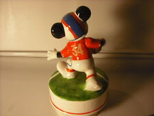 "Vintage Disney Mickey Foot Ball Star ""Music Box Dancer"" Music Box"