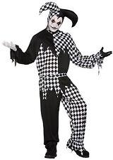 Da Uomo Adulto Scuro Giullare Costume Da Halloween Arlecchino Costume