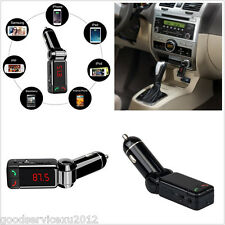 Dual USB Ports Car Bluetooth Kit FM Transmitter MP3 Player Handfree Wirelss Kit