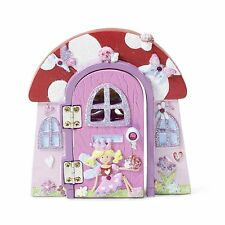 Kids Pink 'Opening'  FAIRY Elf Magic DOOR Skirting Board Ornament LUCY LOCKET
