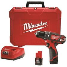 NEW MILWAUKEE 2408-22 M12 12 VOLT CORDLESS HAMMER DRILL DRIVER  KIT SALE PRICE