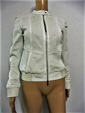 KAREN MILLEN THE ATELIER WINTER WHITE LEATHER JACKET SIZE 8 SEPT05