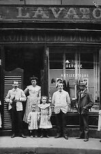PARIS CARTE POSTALE PHOTO COIFFEUR POUR DAMES LAVATORY 1907