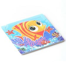 16pcs Wooden Puzzles Jigsaw Toddler Kids Early Learning Educational Toys Fish