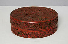 Well  Hand  Carved  Chinese  Lacquerware  Of  Box  With  Mark     M1744