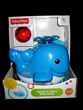 Fisher Price - Age 6-36 Months Spray'n Lights Bath Whale & Red Fish BATHTUB TOY