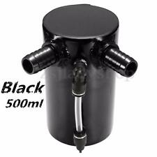 500ML BLACK ALUMINUM CAR ENGINE MODIFIED OIL CATCH TANK BREATHER RESERVOIR CAN