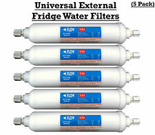 Universal Fridge Water Filters 5 pack fits Samsung LG