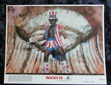 ROCKY IV lobby card CARL WEATHERS mini UK card  8 x 10 inches