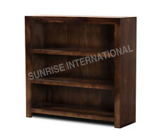 Shelves - Contemporary wood wooden bookcase book rack (Small) (Walnut Shade) !