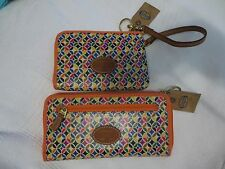 2-pc Fossil Wallet and Wristlet matching pair new with tags in orange multi, NWT