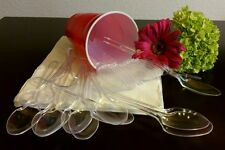 360-Disposable Formal, Clear, Extra Heavy Duty Washable.Reusable Spoons