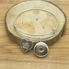 NEW Fashion Angel Charm extendable bracelets for noosa snaps chunk button VQS09