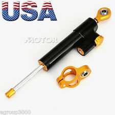 Gold Steering Damper Stabilizer For  Kawasaki KLR 250 650 KLX 110 125 140 350