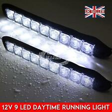 2x White LED Daytime Running Light DRL Car Fog Day DrivingLights Waterproof Lamp