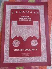 Antique Vtg 1920 Crochet Pattern Book EDGINGS INSERTIONS MEDALLIONS Anne Orr
