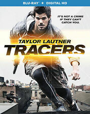 Tracers (Blu-ray Disc, 2015)  Taylor Lautner 1 disc NO UV download FREE shipping