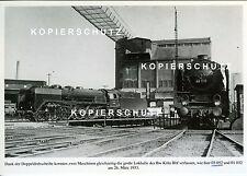 Dampflok 03 052 und 01 032 1933 Bw Köln Bbf Doppeldrehscheibe EK-AK (*6992)