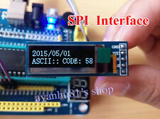 "SPI 0.91"" 128x32 White OLED LCD Display Module AVR PIC for Arduino DC 3.3-5V"