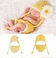 Newborn Baby Girls Crochet Knit Costume Photo Photography Prop Outfits Peacock