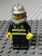 LEGO Minifig City Fire Silver Fire Helmet Yellow Airtanks  x  1PC