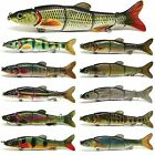 "6.5"" Multi Jointed Fishing Lure Bait Swimbait Life-like Pike Musky Killer NEW"