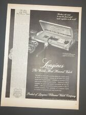 Original 1948 Vintage Print Ad LONGINES Watch Jewelry World's Most Honored