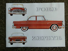 1959 FORD (MK2) ZEPHYR SALES  BROCHURE  ''AUSTRALIAN VERSION''
