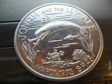 jonah and whale 1973  Mardi Gras Doubloon Coin new orleans