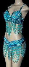 Belly Dance, Carnival ,Samba, Vegas Showgirl  Beaded Dance Costume