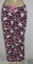 NWT HELLO KITTY WOMENS HOT PINK KNIT SLEEP LOUNGE PANTS PAJAMA SIZE LARGE