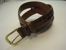 "Nordstrom Alligator Embossed Leather Belt  - Size 34"" - Made in New England USA"