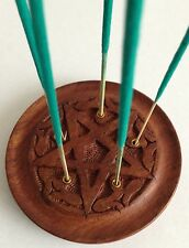 PENTAGRAM CARVED INCENSE STICK HOLDER ASH CATCHER - Rapid Same Day Despatch