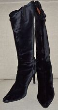 Donald J Pliner Couture Tall Video Boots Black Velvet Italy Stiletto Heel sz. 9M