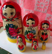 TRADITIONAL RUSSIAN NESTING DOLL 6 PCS  LARGE 5.5*