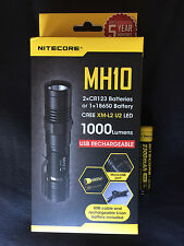 Nitecore MH10 1000 Lumens Compact USB Rechargeable LED Flashlight w/ Battery