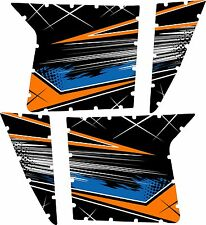 Pro Armor Door Graphics Kit Polaris RZR S XP 900 Orange Mad Blue White No Cuts