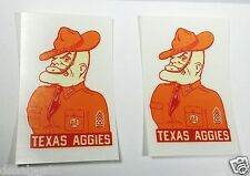 3 INCH Texas A&M University AGGIES Ol' Sarge Vintage Style DECALS,Vinyl STICKERS