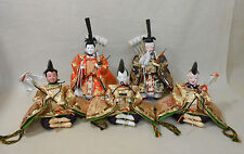 #58 Set of 5 Japanese HINA Dolls / ZUISHIIN & SANNIN-SHICHO w/ Tools