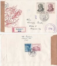 Czechoslovakia 1952 Russia Occuption FDC with memo {Below}