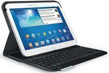 NEW Logitech Ultrathin Bluetooth Keyboard Folio Case Samsung Galaxy Tab 3 10.1""