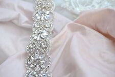 VALENTINA BRIDAL SASH, Bridal Belt, Wedding Dress Sash, Crystal Sash, Vintage