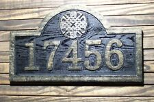 Carved Address Sign Raised Numbers and Celtic Knot Design