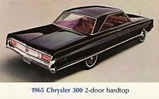 Old Print.  Black 1965 Chrysler 300 Auto Advertisement