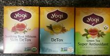 3 Yogi Tea  DeTox Skin Detox Super Anti-Oxidant Green Herbal Tea