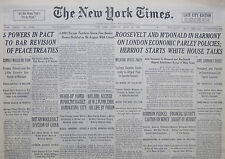 4-1933 April 25 POWERS IN PACT TO BAR REVISION OF PEACE TREATIES. BRITAIN WOULD