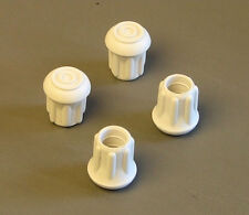 "4 Pack 1/2"" Rubber Tips- Cane, Crutch or Chair- White     CT-500-W"