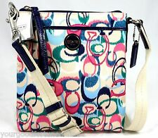 NWT Coach IKAT Scribble Swingpack Crossbody Shoulder Pastel Pink Multi 49495