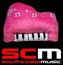 New Pink EMBROIDERED PIANO KEYBOARD CUSHION 35x30cm PLUSH STUFFED DECORATIVE TOY